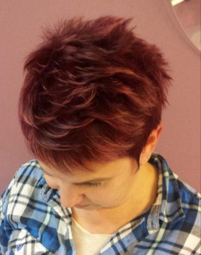 Pinkit hiukset