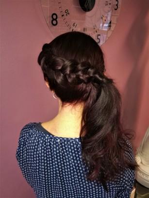 Lettikampaus sekä hiustenvärjäys