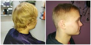 Miesten hiustenleikkaus