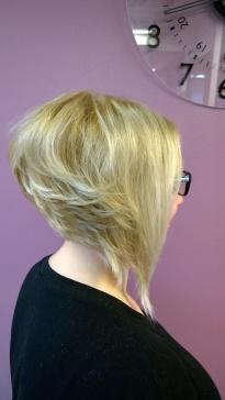 Blond hair's cut